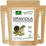 MoriVeda® - Graviola Presslinge 360 x 2000mg Frucht Extrakt 4:1 Vegan, Qualitätsprodukt – Sauersack (3x120 Tabs)