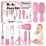Babypflege Set, Baby Erstausstattung Pflegeset, Babypflegeset, Baby Pflegeset Neugeborene 10-teilig, mit Nasensauger Kamm Nagelschere für Neugeborene
