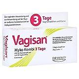 Vagisan Myko Kombi 3 Tage Vaginalzäpfchen und Creme, 1 St. Kombipackung