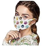 IFOUDNYOU 5 Stück Maske Damen Wiederverwendbar Bunt Mundschutz mit Motiv Waschbar Baumwolle Wiederverwendbar Mund und Nasenschutz Halstuch Multifunktionstuch Gesichtsmaske