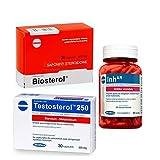MEGABOL MEGA Set - Testosterol 250 30 Kapseln + Biosterol 36 Kapseln + Inh-AR 60 Kapseln - Testosteron Booster - Inhibitor Aromatase - Estogen Blocker - Hormonunterstützung - Muskelwachstum…