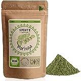 SPINTZ 250g Bio Moringa Pulver - gemahlene Moringablätter - Blattpulver von Moringa Oleifa -vegan- Superfood ohne Zusätze - kontrolliert biologischem Anbau | per Hand abgefüllt | plastikfrei verpackt