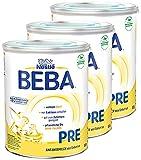 Nestlé BEBA Pre Anfangsmilch, Anfangsnahrung von Geburt an, 3er Pack (3 x 800g)