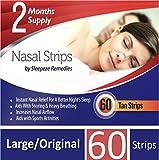 Nasenpflaster groß x60   Sleepeze Remedies® Nasenstrips stoppen das Schnarchen und helfen Ihnen direkt durch die Nase zu atmen   Premium Qualität Nasenpflaster Schnarchstopper die Schlafapnoe und nasale Stauungen unterstützen