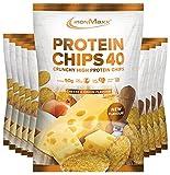 IronMaxx Protein Chips 40 - Cheese & Onion Geschmack - 10er Pack, 10x 50 g - High Protein, Low Carb, glutenfrei, fettarm und zuckerreduziert - 20g Protein pro Tüte - Designed in Germany