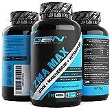 ZMA MAX - 180 Kapseln - Extra hochdosiert - Zink + Magnesium + Vitamin B6 - Premium: Mit 3 Magnesiumverbindungen - Laborgeprüft - Vegan