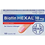 Biotin HEXAL 10 mg Tabletten bei Vitamin H-Mangel, 100 St. Tabletten
