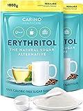 Erythrit 100% Erythritol reiner Zuckerersatz Süßungsmittel 2x 1000g - wiederverschließbarer Beutel