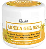 Arnika Gel 500 ml Dulàc mit 95% Arnica Montana, Arnika Salbe Hochkonzentriert, Kühl Muskelkater Salbe, Muskel Entspannung, Gelenk Salbe - Natürliche Formel, Made in Italy