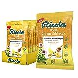 Ricola Honig Zitrone Echinacea, Schweizer Kräuterbonbon, 18 x 75g Beutel, Wohltuend für Hals und Stimme*