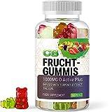 CB FRUCHTGUMMIS (1 Dose à 60 Stück)   Pflanzenwirkstoff aus Hanf - 1000mg O-Active Plus mit konzentriertem Terpene Extrakt - Frei von THC