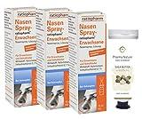 Nasenspray Ratiopharm 15 ml - 3er Sparpack inkl. einer hochwertigen Handcreme ODER Duschbad von Pharma Nature