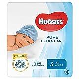 Huggies Pure Extra Care Baby-Feuchttücher, Für den ganzen Körper, 99 % reines Wasser, Parfümfrei, 3 x 56 Tücher, Triopack