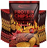 IronMaxx Protein Chips 40 High Protein Low Carb, Geschmack Hot Chili, 10x 50 g Beutel (10er Pack)