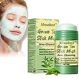 Green Stick Mask, Grüner Tee Maske, Green Tea Stick Mask, Entfernen Sie zur Akne-Reinigung Mitesser tief und stellen Sie die Fettbalance ein