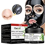 Charcoal Face Mask, Mitesser Maske, Peel off Maske,200g Blackhead Remover Maske, Bamboo Poren Anti Öl Kontrolle Reinigung Blackhead Maske, Peel Off Maske,Kontrolle Tiefenreinigung