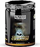 CREATINE MONOHYDRATE 500g Creapure - Kreatin-Pulver - hochdosiert + vegan - Masse und Kraft - ALPHATIER CONQUERER Creatin-Monohydrat Powder für Krafttraining und Bodybuilding
