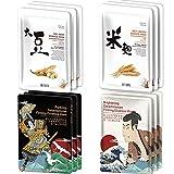 [TKJP00512-05-024] MITOMO Typ 5 [JP UKIYOE Probe-Set 24 Blatt] Schöne Haut Gesichtsmaske – Hergestellt in Japan – Bestes Geschenk, um Ihre Haut mit Feuchtigkeit zu versorgen.