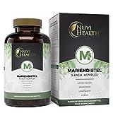 Mariendistel 5-Fach Komplex - 180 vegane Kapseln mit Artischocke, Löwenzahn, Desmodium, Piperin - Premium: Hochdosiert mit 80% Silymarin & 2,5% Cynarin - Laborgeprüft