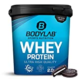 Protein-Pulver Bodylab24 Whey Protein Cookies & Cream 2kg / Protein-Shake für die Fitness / Whey-Pulver kann den Muskelaufbau unterstützen / Hochwertiges Eiweiss-Pulver mit 80% Eiweiß / Aspartamfrei