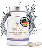 RELAX Anti Stress Immunsystem Stärken Besser Schlafen Gute Laune Vitamin B Sleep And Relax Vitamin C Magnesium Tabletten 60 Kapseln Monatspack Innere Ruhe Passionblume