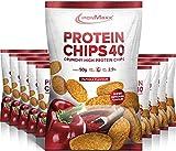 IronMaxx Protein Chips, Tüte, Paprika (Neu), 10er Pack (10 x 50 grams)