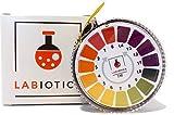 LABIOTICS Indikatorpapier für schnelle pH-Wert-Messungen (pH 0-14) - 5 Meter lange pH Papier Rolle - Ergibt bis zu 250 pH Teststreifen für Wasser & Co. (1)