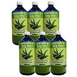 ForeverFit Aloe Vera Trinkgel 6 x 1000ml Barbadensis Miller Blattgel unverdünnt KEIN Saft KEIN Konzentrat OHNE künstliche Vitamine. Acemannan bis 1200mg/Liter. 30242