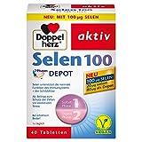 Doppelherz Selen 100 DEPOT – Selen als Beitrag zur normalen Funktion des Immunsystems – 1 x 40 vegane Tabletten
