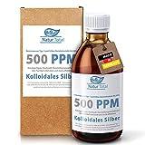 Natur Total Natürliches extra hochdosiertes kolloidales Silber   500 PPM [250ml]   100% Reinstwasser Typ I   effizient & konzentriert   kolloidales-Silber in brauner PET-Medizinflasche