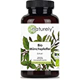 naturely® BIO Mönchspfeffer Extrakt - 180 Kapseln - Original Vitex Agnus Castus - 10mg Extrakt je Kapsel - vegan, laborgeprüft, hergestellt in DE