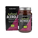 NATURAL ACEROLA Vitamin C 200, mit natürlichem Vitamin C der Acerola-Kirsche, hohe Bioverfügbarkeit, für das Immunsystem, hilft bei Müdigkeit (60 Tabletten)