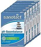 sanotact pH-Basenbalance Pulver • 6x200g Basenpulver zum Einnehmen • Entsäuerungskur mit Mineralien & Spurelementen • Basenpulver für normalen Säure-Basen-Stoffwechsel