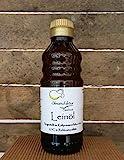 Leinöl mühlenfrisch [kaltgepresst bei 27°C] - Naturbelassenes Premium Öl » mild & frisch im Geschmack « - 500 ml - reich an Omega 3 Fettsäuren - hochwertiges Leinsamenöl