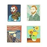 4 Stück Brosche Emaille Revers Sonnenblumenöl Gemälde Brosche Pins Mode Geschenke für Kleidung Taschen Rucksäcke Hut DIY Handwerk