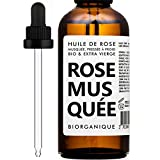 BIO Hagebuttenöl (Wildrosenöl) -100% rein, natürlich und kaltgepresst - 50 ml - Pflege für Haar, Körper, Anti-Aging, Haut, Narben, Anti Dehnungsstreifen, Antialterung/Hagebuttenkernöl