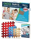 MediPhysio Gittertape Premium - Gitterpflaster Original - Innovatives Akupunkturpflaster inkl. Pinzette und Gitterpflaster Buch (ebook) - DERMATEST: SEHR GUT - Cross Tape Mix