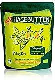 Bio Hagebuttenpulver 1kg Selektierte Hagebutten mit Natürlichen Vit. A, E, C und Ca, Mg - Hochdosiert und Laborgepüft, 100% reines Superfood aus zert. Biologischem EU Anbau - BotaniKils