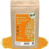 amapodo - Kurkuma Bio 200g - Tee Gewürzpulver - Curcumin für Goldene Milch Chai Latte - Turmeric Powder - Kurkumin Gewürz - Kukuma Wurzel Pulver - Curcuma longa - Kukumagewürz