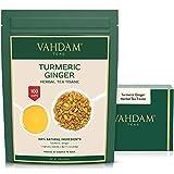 VAHDAM, Kurkuma-Ingwer-Kräutertee Loose Leaf   (100 Tassen)   Indiens Wundergewürz   Kurkuma-Tee & Ingwer-Tee   100% natürlicher Tisane Tee   Bio Loser Tee   Brauen Sie als heißer oder Eistee   200g