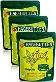 Bio Hagebuttenpulver 3kg/3x1000g Selektierte Hagebutten mit Natürlichen Vit. A, E, C und Ca, Mg - Hochdosiert und Laborgepüft, 100% reines Superfood aus zert. Biologischem EU Anbau - BotaniKils