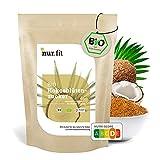 nur.fit BIO Kokosblütenzucker 500g – rein natürlicher Zuckerersatz aus Kokosblüte als Süßungsmittel mit leichtem Karamell-Geschmack – Zuckeralternative in zertifizierter Bioqualität