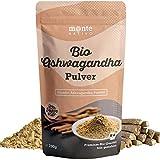 Bio Ashwagandha Pulver von Monte Nativo – 700g Premium Qualität - Wurzel Pulver gemahlen - Indischer Ginseng - Schlafbeere - Withania Somnifera aus Indien - Laborgeprüft - Herg. in Deutschland