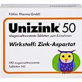 Unizink 50 mg magensaftresistente Tabletten, 100 St. Tabletten