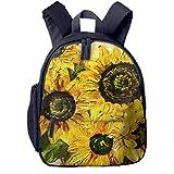 Kinderrucksack Kleinkind Jungen Mädchen Kindergartentasche Ernte Sonnenblumenöl Blume Backpack Schultasche Rucksack
