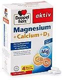 Doppelherz Magnesium + Calcium + D3 – Mit Calcium als Beitrag zum Erhalt normaler Knochen und einer normale Muskelfunktion – 120 Tabletten