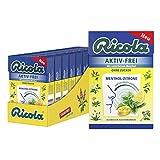 Ricola AKTIV-FREI Menthol-Zitrone, Schweizer Hustenbonbon, 10 x 50g Böxli, ohne Zucker, erfrischend-fruchtig für ein freies Atemgefühl