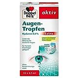 Doppelherz Augen-Tropfen Extra Hyaluron 0,4 % – Feuchtigkeitsspendende Augentropfen mit lindernder Wirkung bei trockenen & gereizten Augen – 10 x 0,5 ml