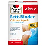 Doppelherz Fett-Binder mit Chitosan – Medizinprodukt zur Gewichtskontrolle – 1 x 40 Kapseln