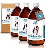 Natur Total Kolloidales Silber 100PPM [XXL-Set] I 3 Braunglasflaschen à 1000ml I natürliches & hochreines Silberwasser I Reinstwasser Typ 1 und Pures Silber 99,99%
